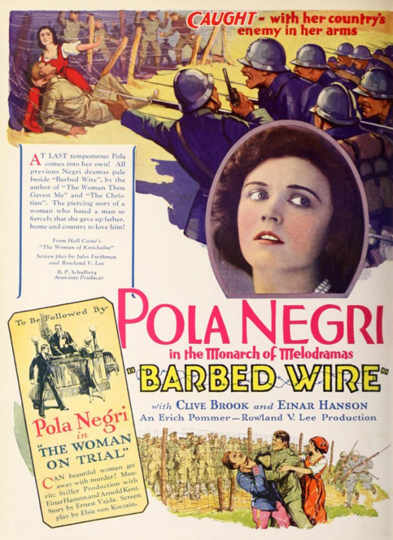 Barbed Wire (1927 film) movie poster