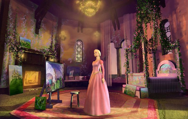 Barbie as Rapunzel movie scenes