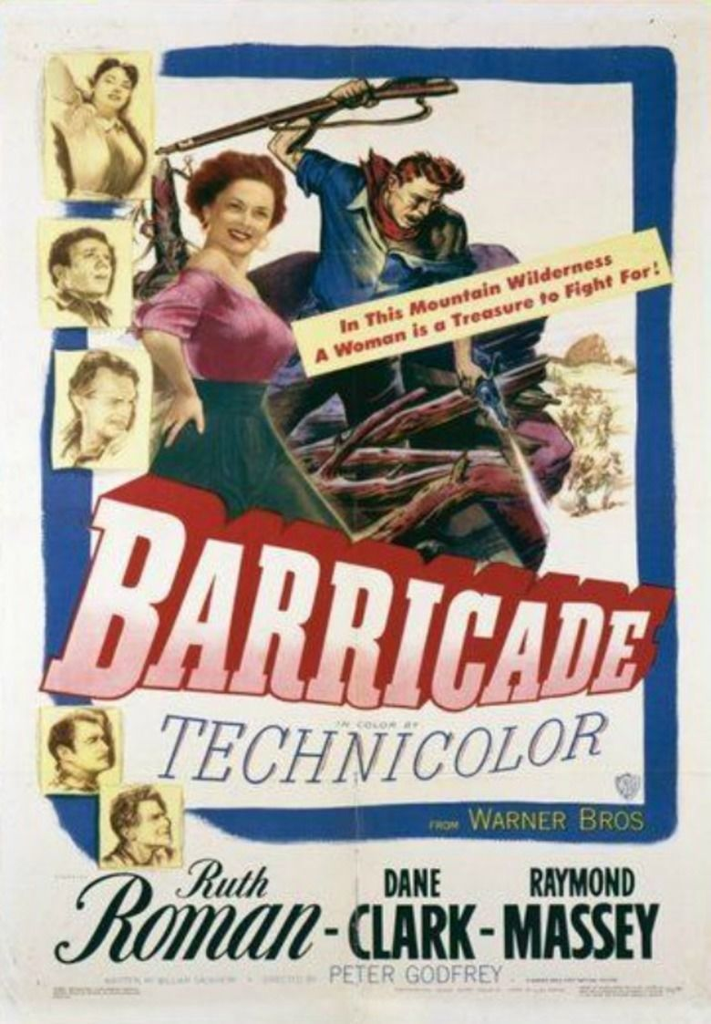 Barricade (1950 film) movie poster