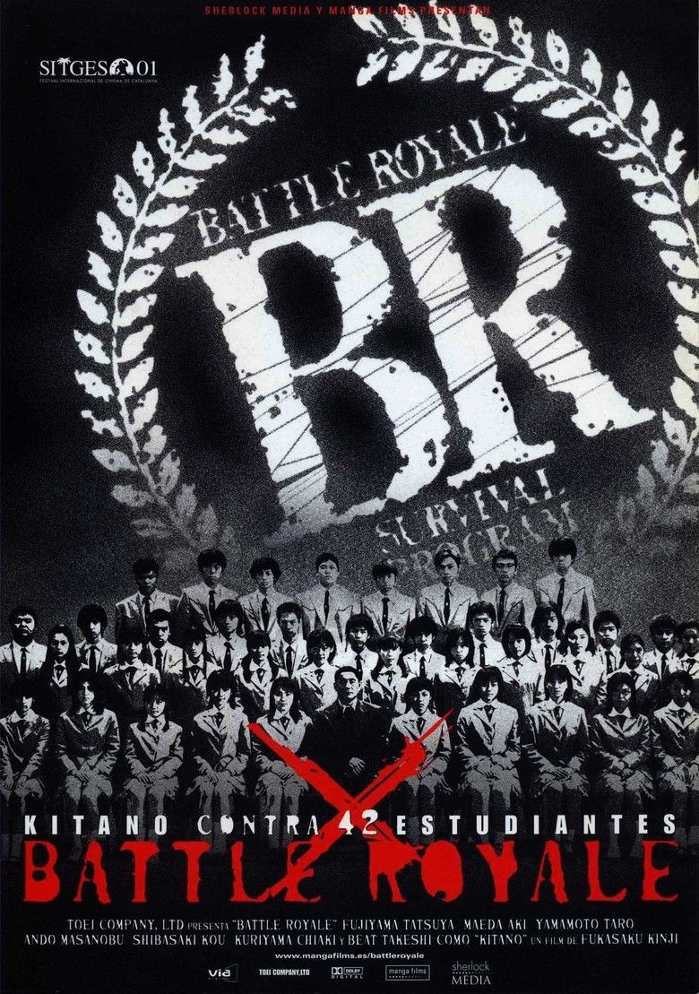 Battle Royale (film) movie poster