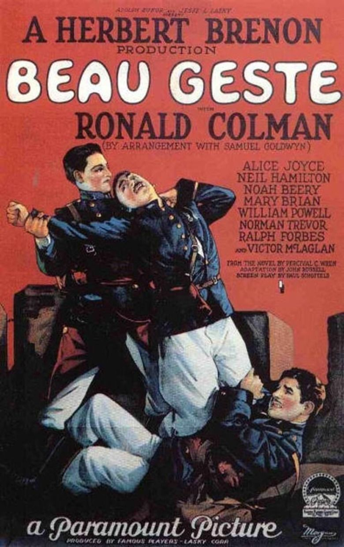 Beau Geste (1926 film) movie poster