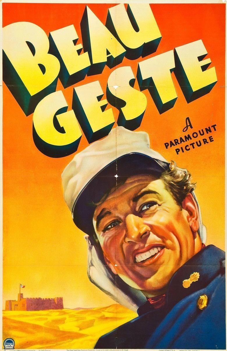 Beau Geste (1939 film) movie poster