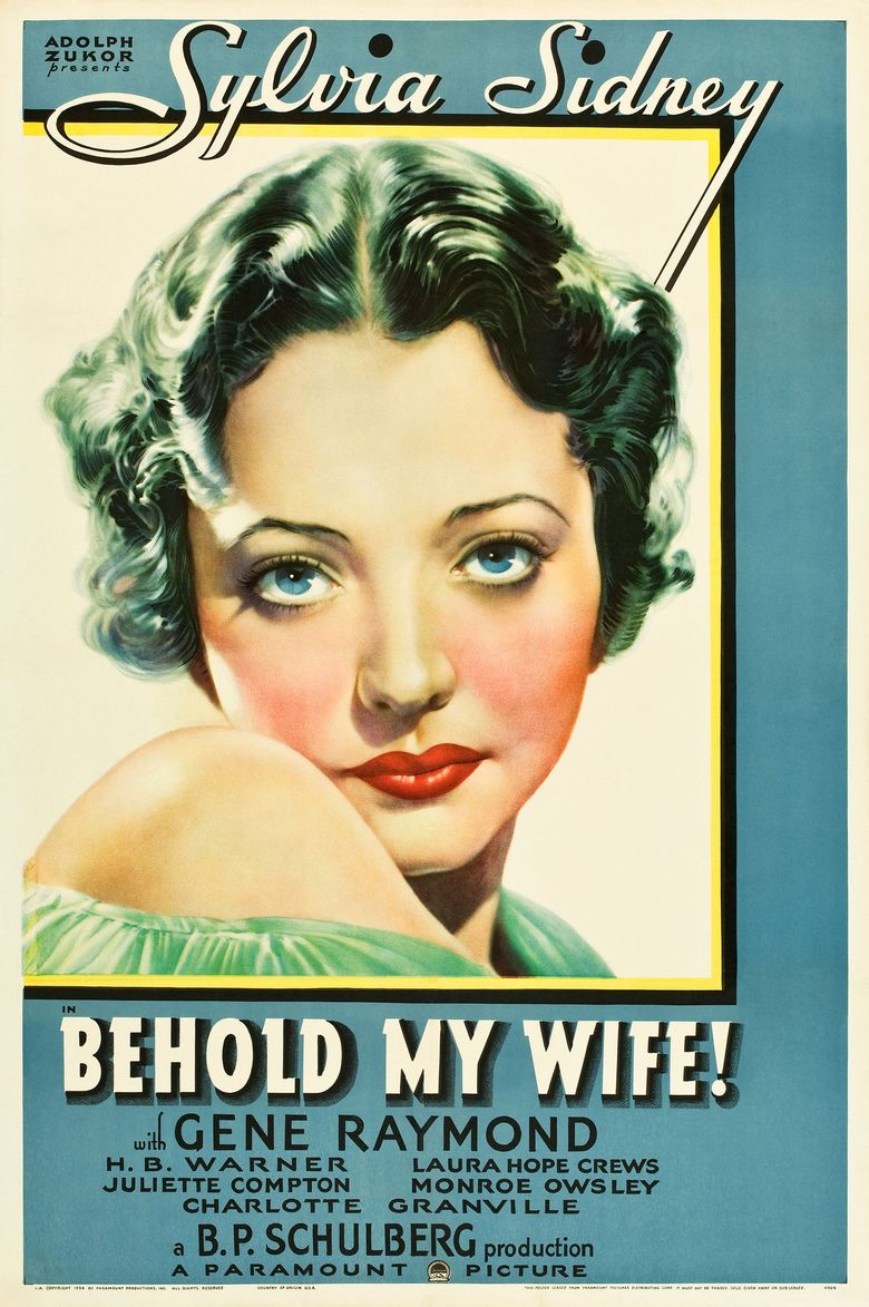 Behold My Wife! (1934 film) movie poster