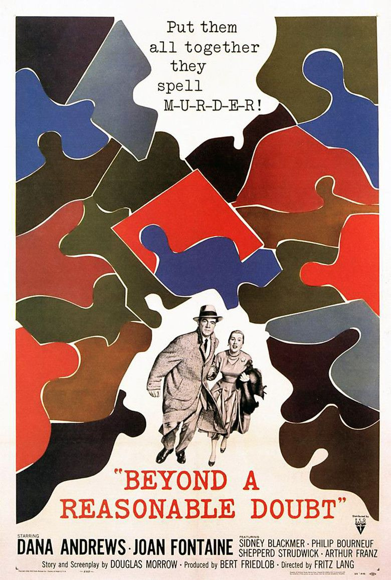 Beyond a Reasonable Doubt (1956 film) movie poster