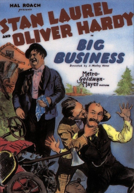Big Business (1929 film) movie poster