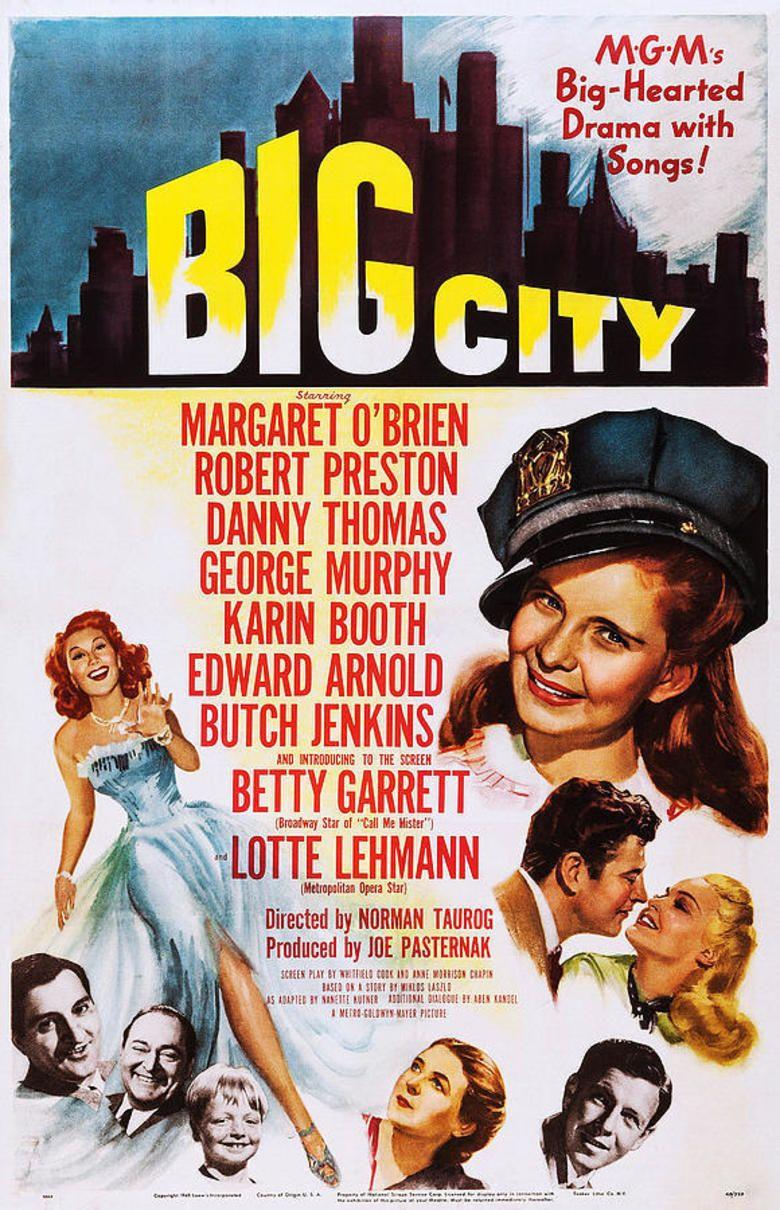 Big City (1948 film) movie poster