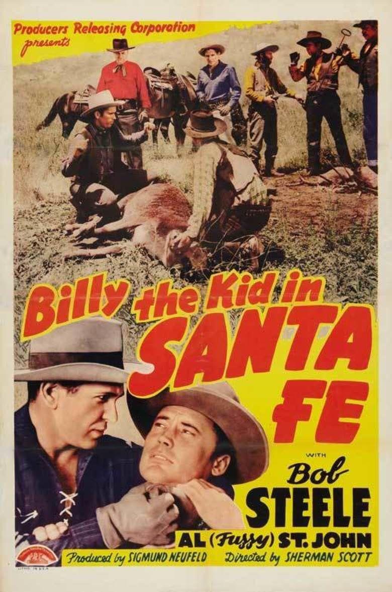 Billy the Kid in Santa Fe movie poster