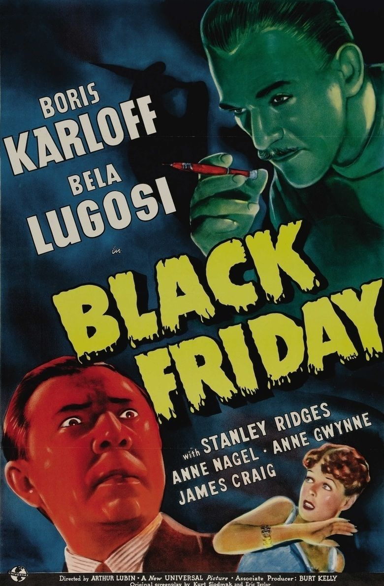 Black Friday (1940 film) movie poster