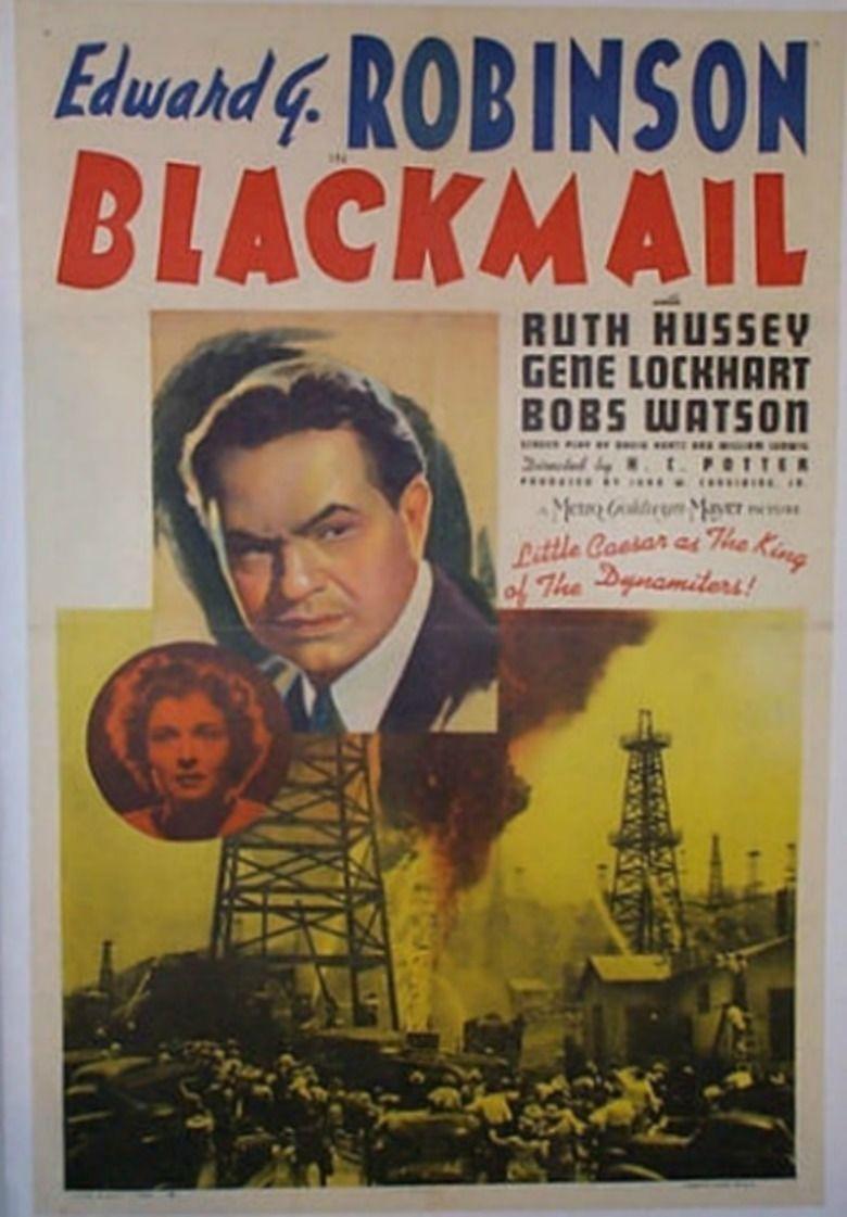 Blackmail (1939 film) movie poster