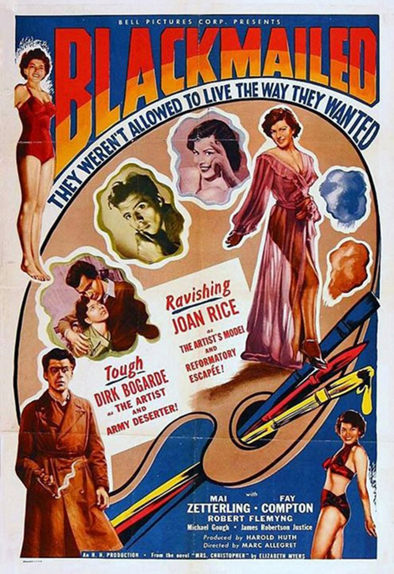 Blackmailed (1951 film) movie poster