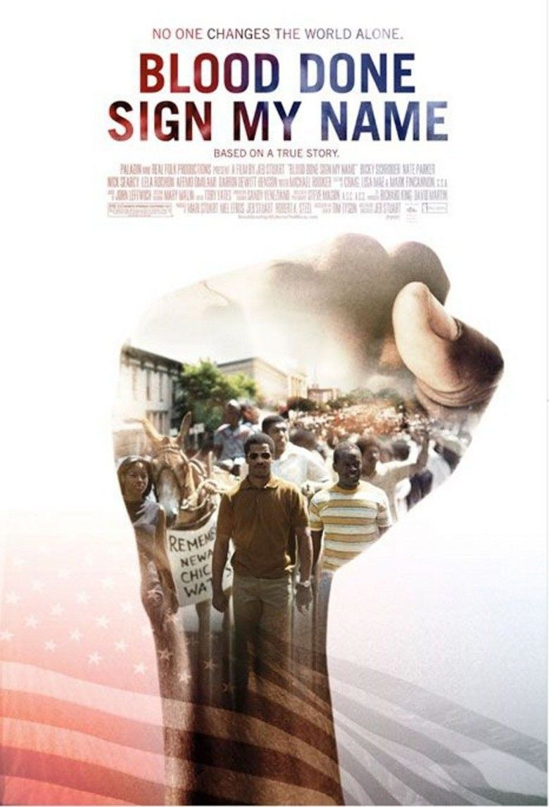 Blood Done Sign My Name (film) movie poster