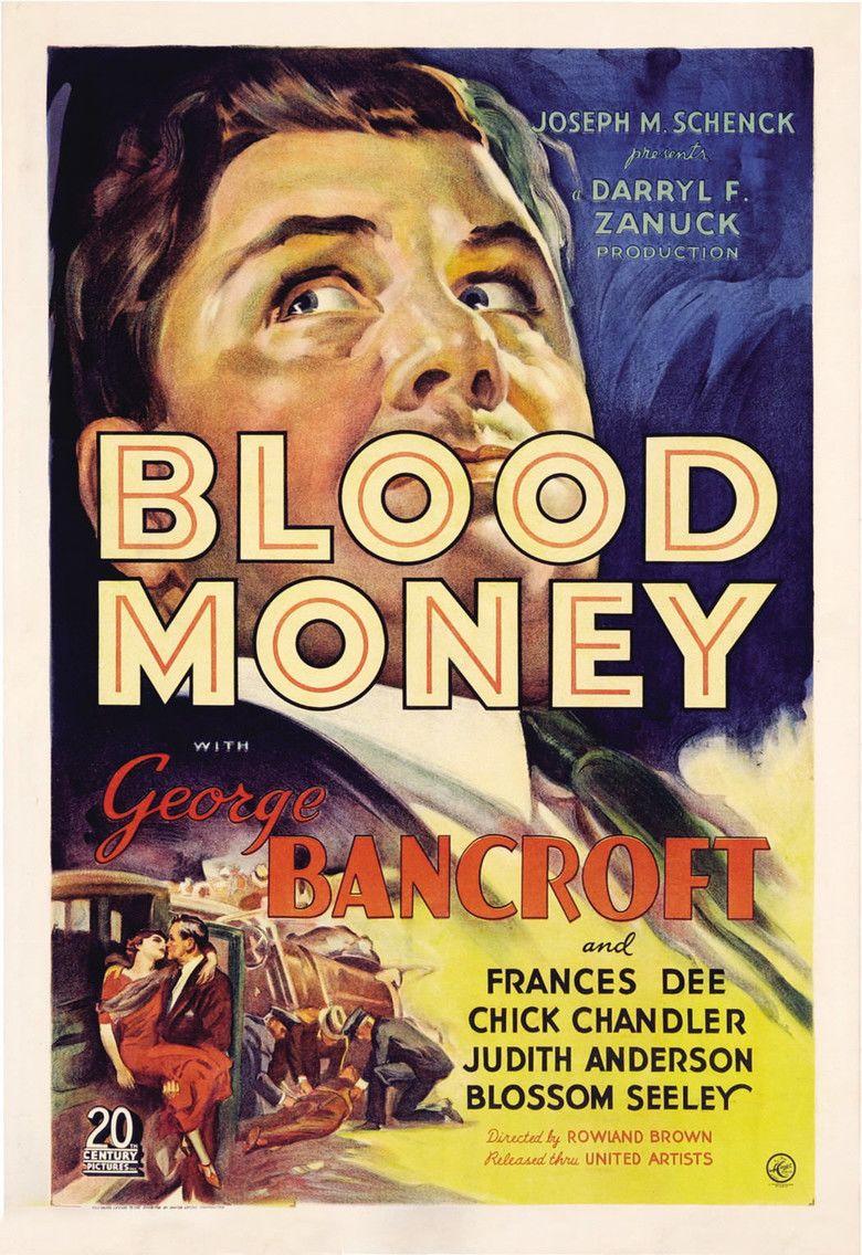 Blood Money (1933 film) movie poster