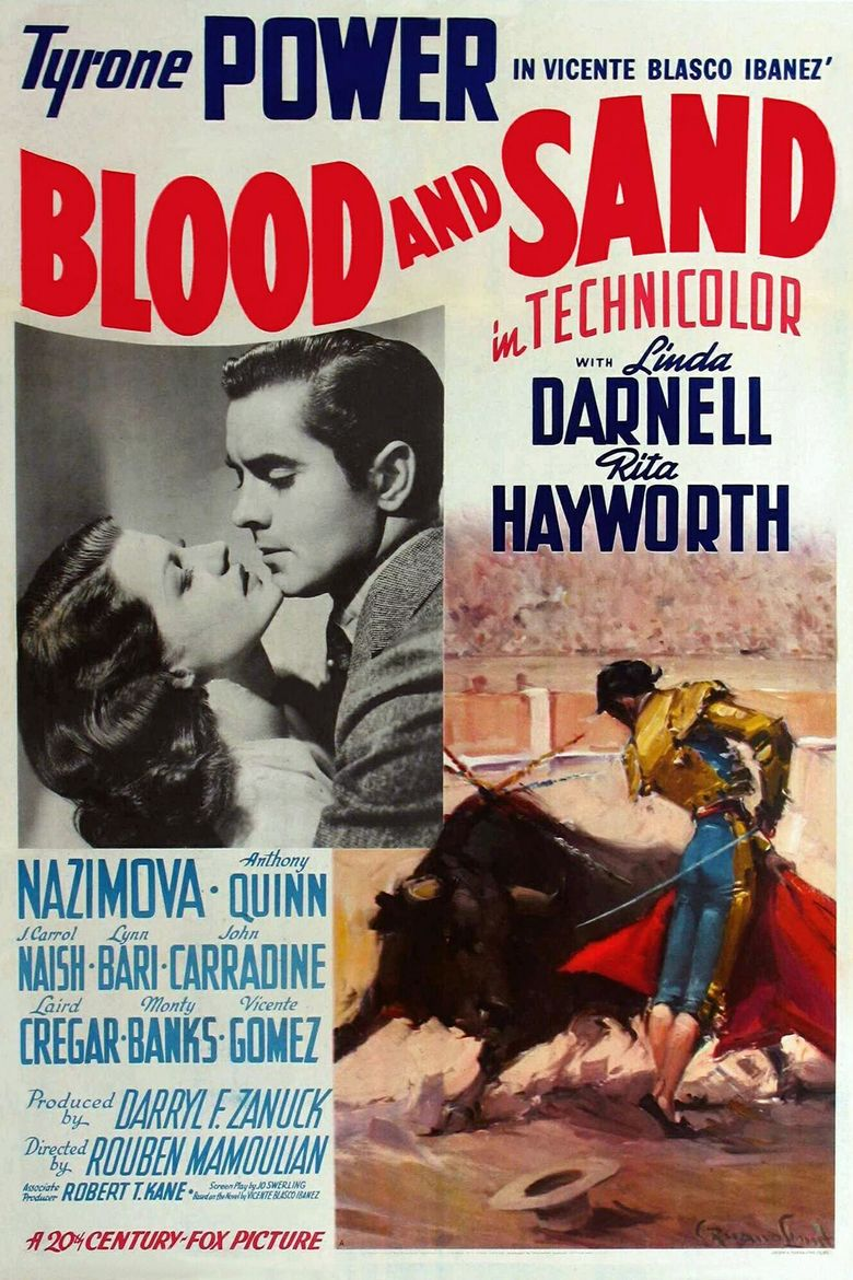 Blood and Sand (1941 film) movie poster