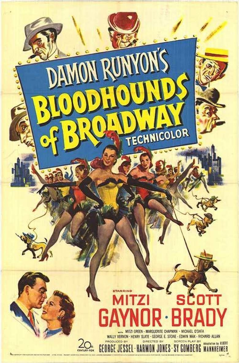 Bloodhounds of Broadway (1952 film) movie poster