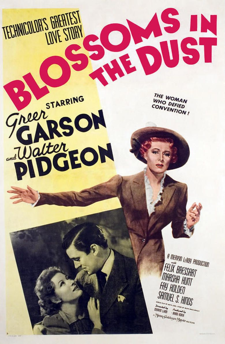 Blossoms in the Dust movie poster