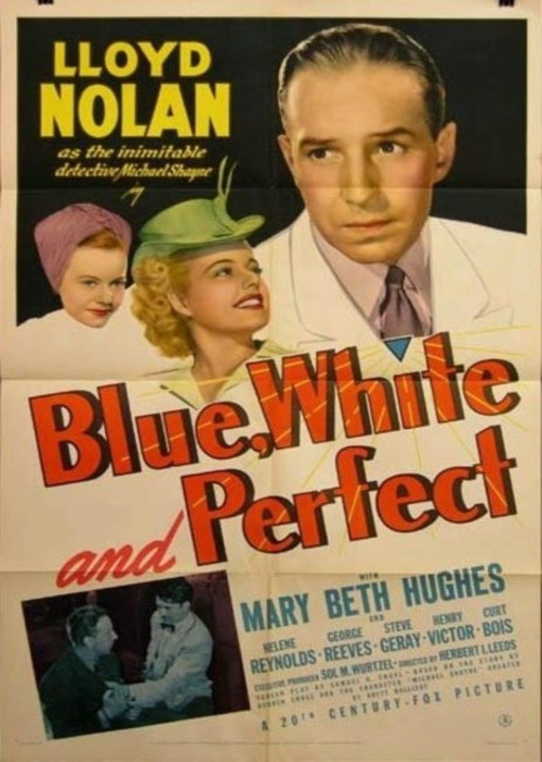 Blue, White and Perfect movie poster
