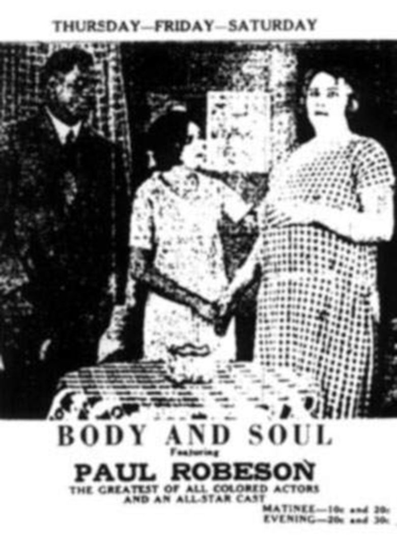Body and Soul (1925 film) movie poster