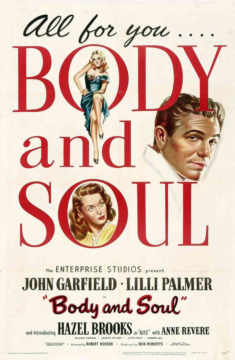 Body and Soul (1947 film) movie poster