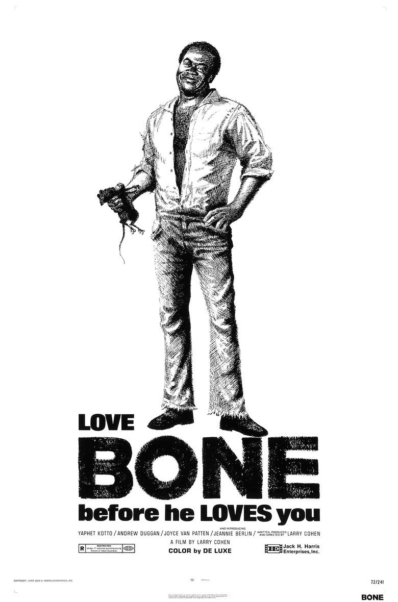 Bone (1972 film) movie poster