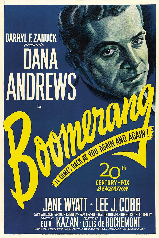 Boomerang (1947 film) movie poster