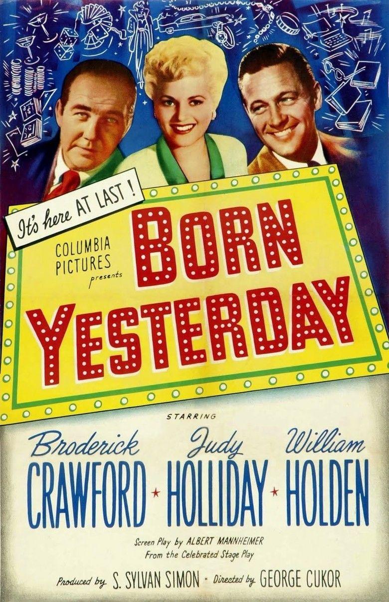 Born Yesterday (1950 film) movie poster