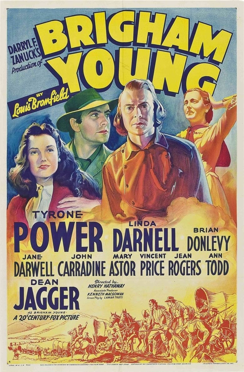 Brigham Young (film) movie poster