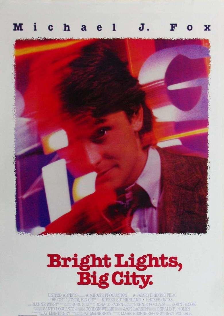 Bright Lights, Big City (film) movie poster