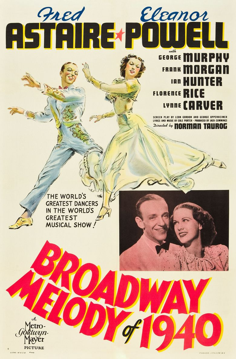 Broadway Melody of 1940 movie poster