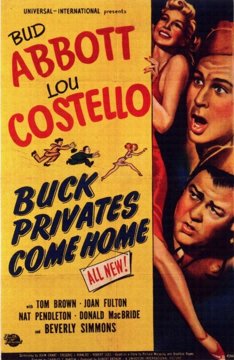 Buck Privates Come Home movie poster