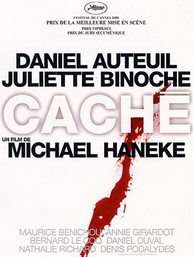 Cache (film) movie poster