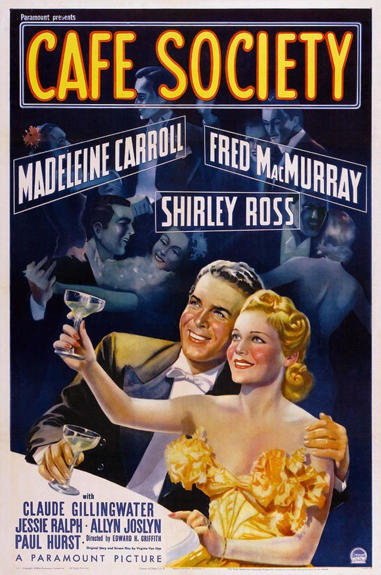Cafe Society (film) movie poster