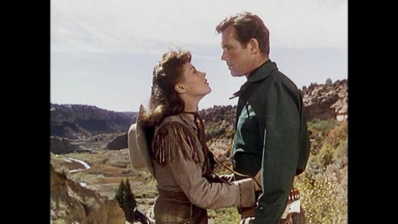 Calamity Jane and Sam Bass movie scenes