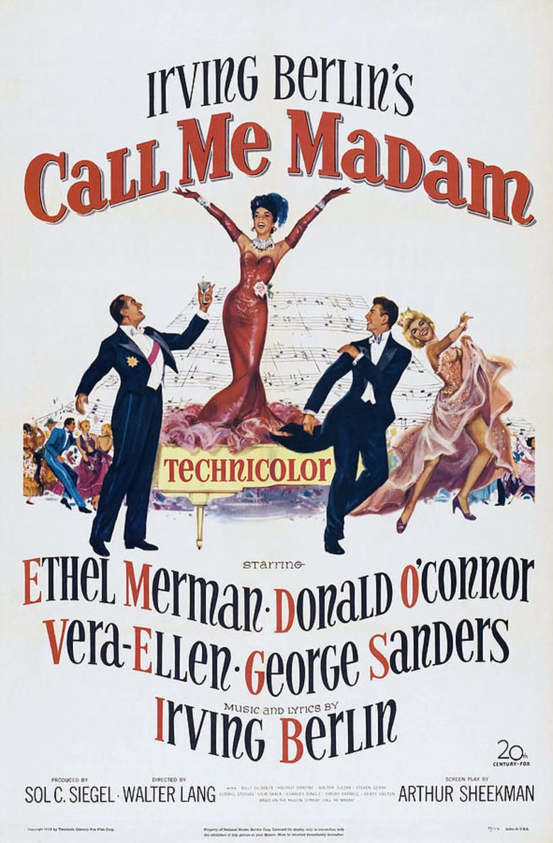 Call Me Madam (film) movie poster