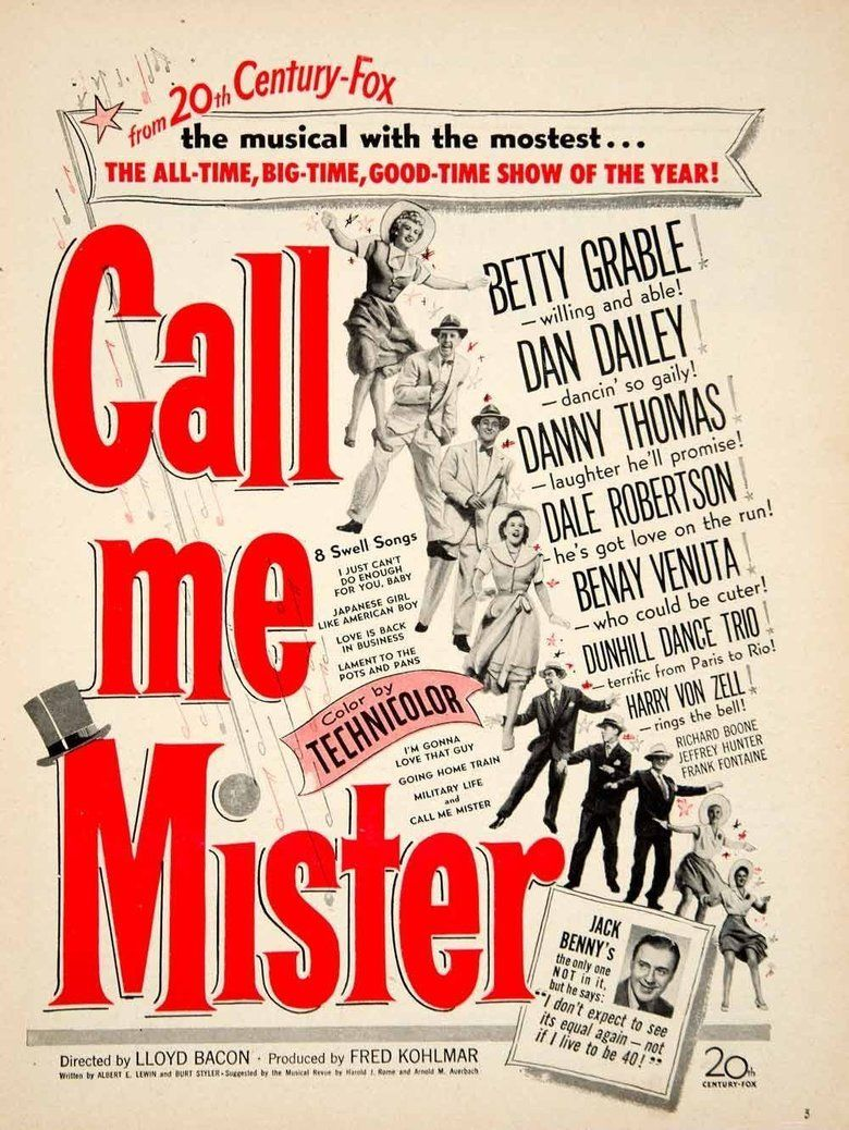 Call Me Mister (film) movie poster