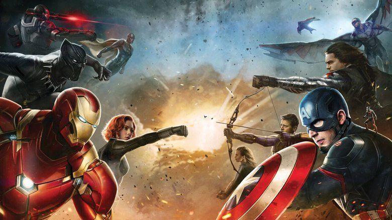 Captain America: Civil War movie scenes