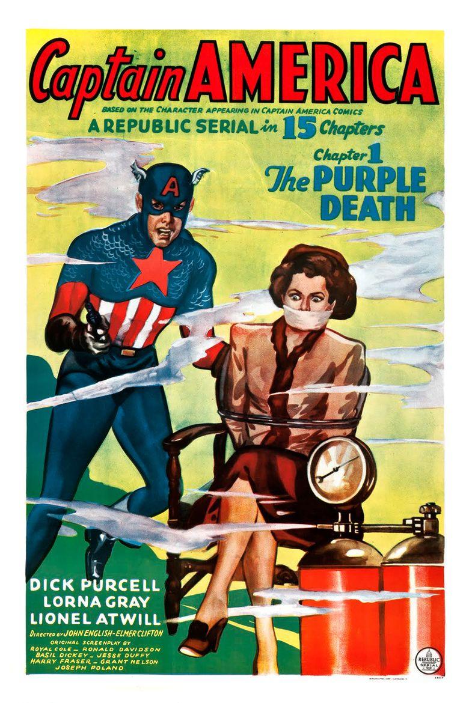 Captain America (serial) movie poster