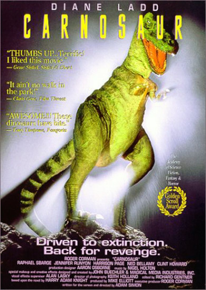 Carnosaur (film) movie poster