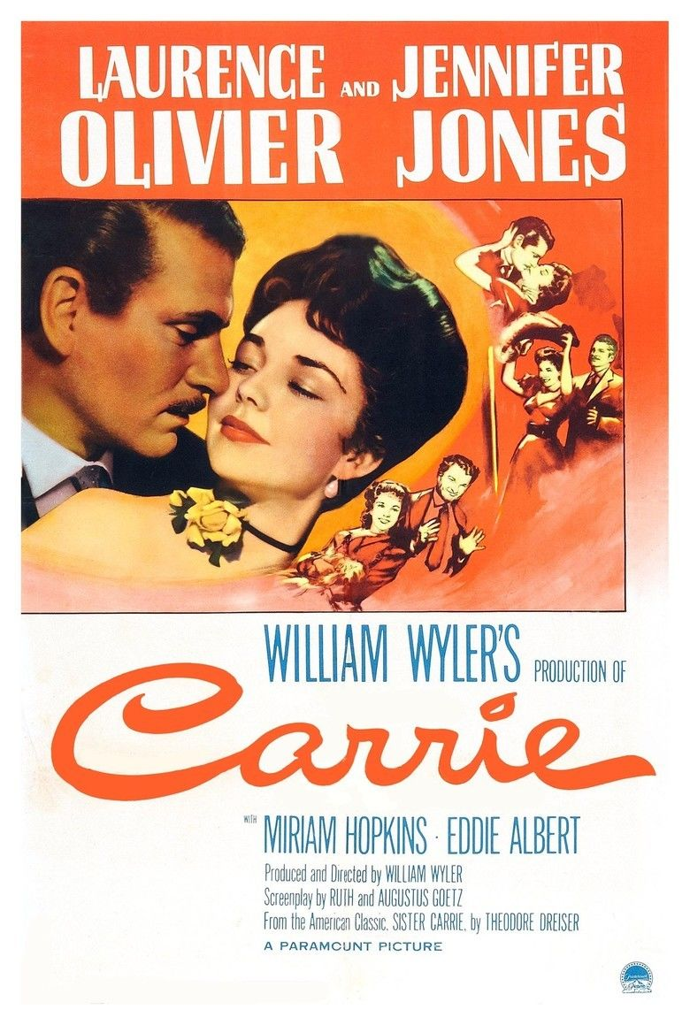 Carrie (1952 film) movie poster