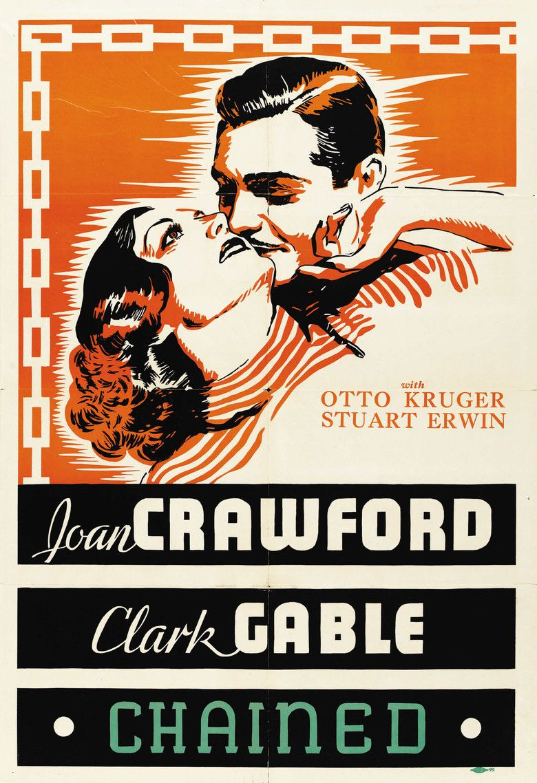 Chained (1934 film) movie poster