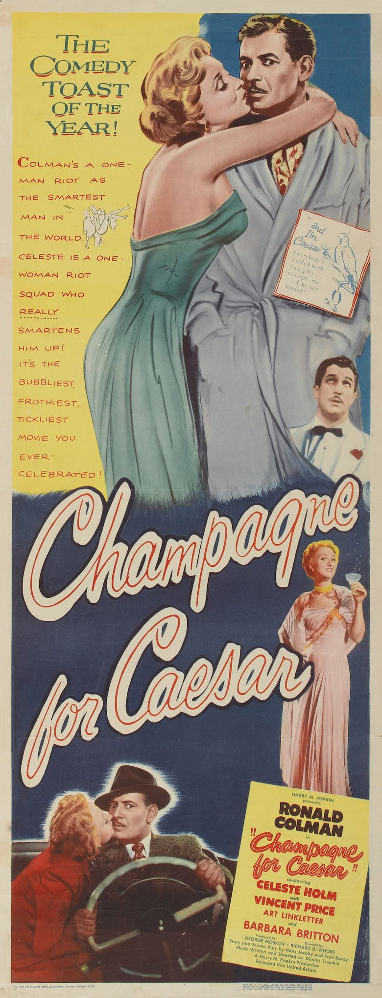 Champagne for Caesar movie poster
