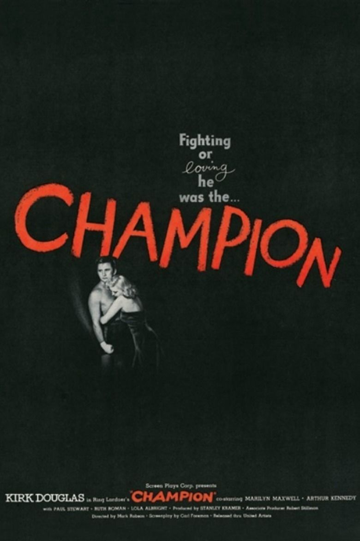 Champion (1949 film) movie poster