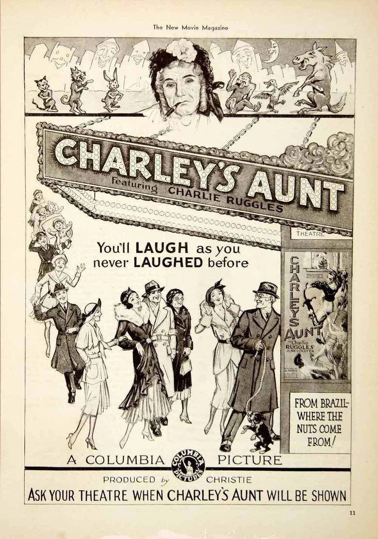Charleys Aunt (1930 film) movie poster