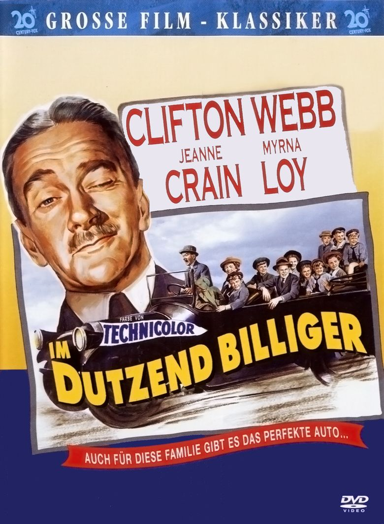 Cheaper by the Dozen (1950 film) movie poster