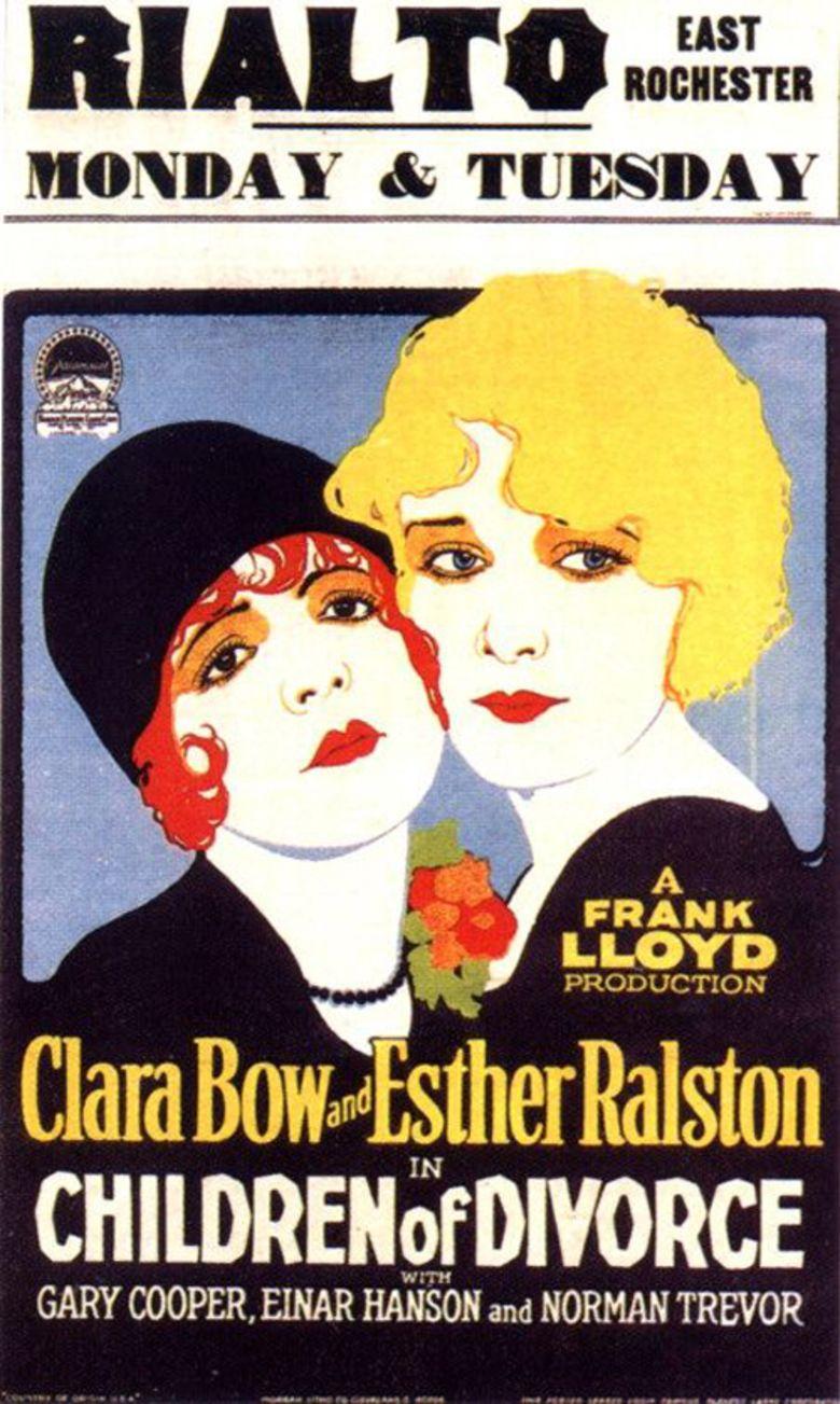 Children of Divorce (1927 film) movie poster
