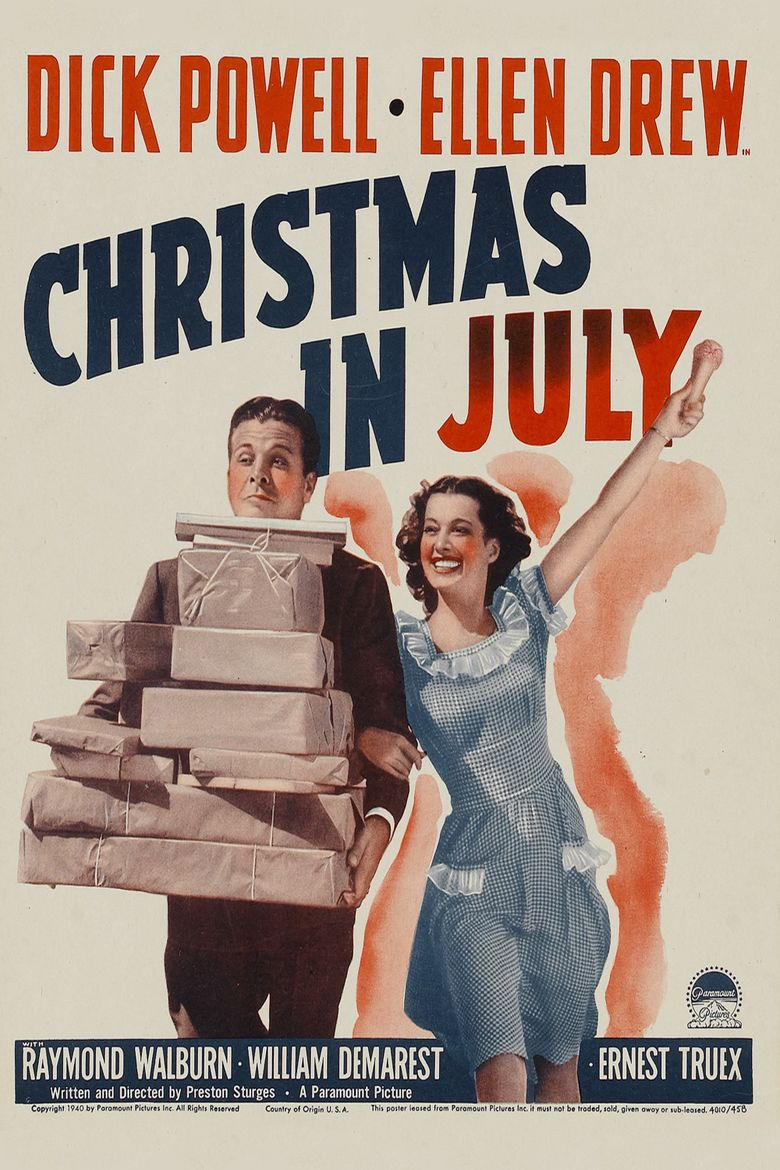 Christmas in July (film) movie poster