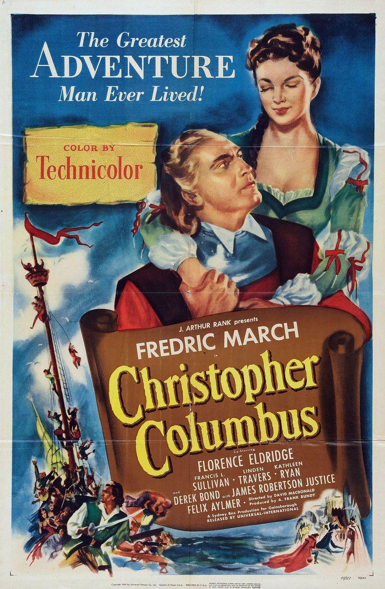 Christopher Columbus (1949 film) movie poster