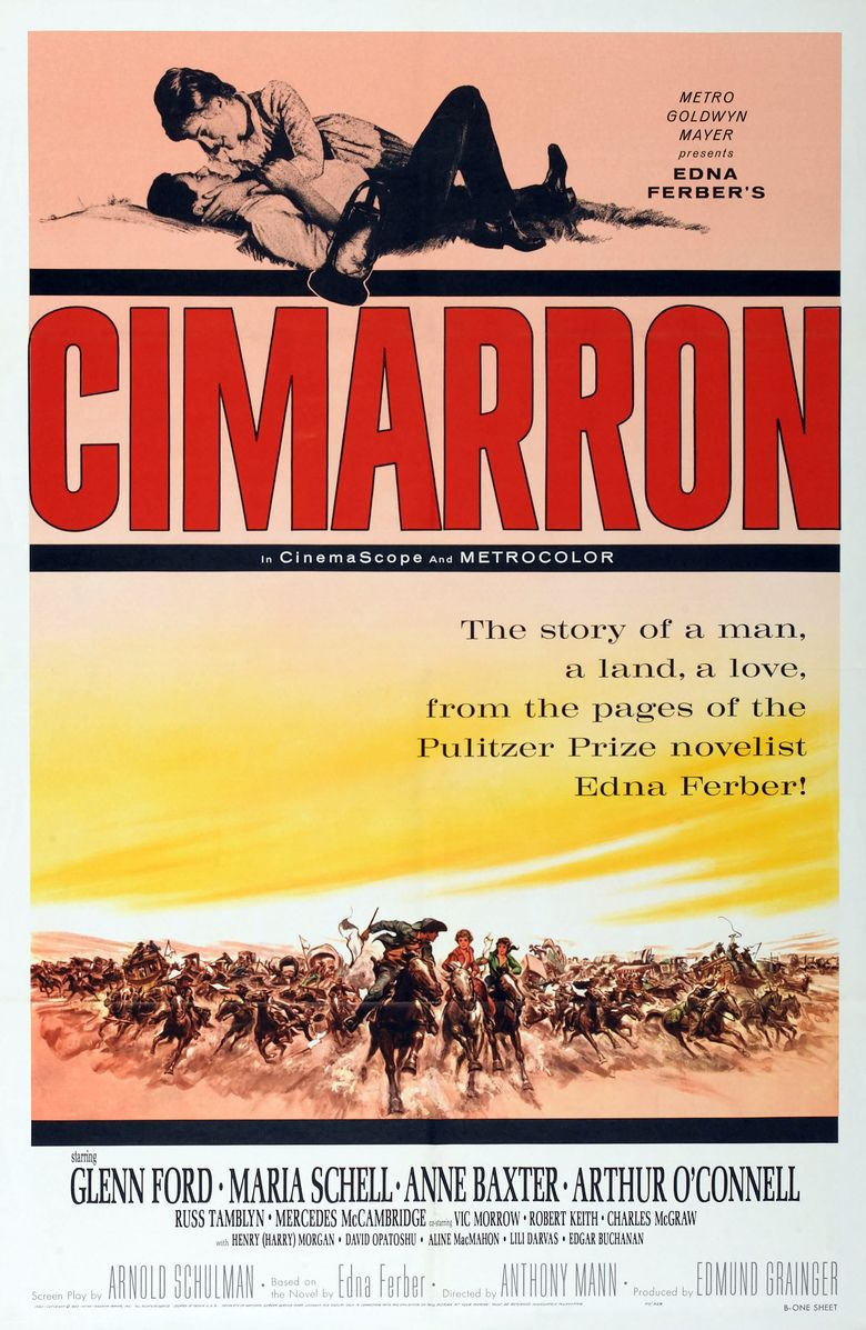 Cimarron (1960 film) movie poster