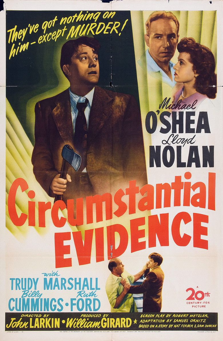 Circumstantial Evidence (1945 film) movie poster
