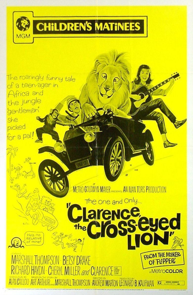 Clarence, the Cross Eyed Lion movie poster