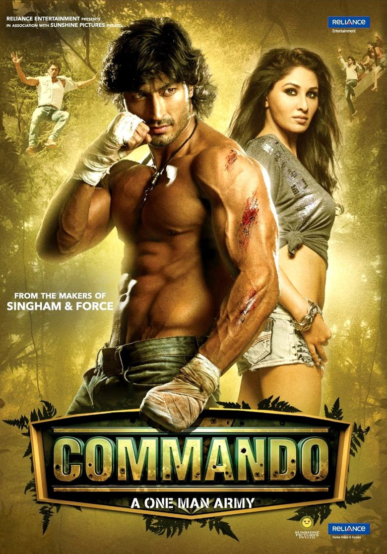 Commando (2013) Hindi Blu-Ray - 480P | 720P - x264 - 400MB | 1.1GB - Download & Watch Online  Movie Poster - mlsbd